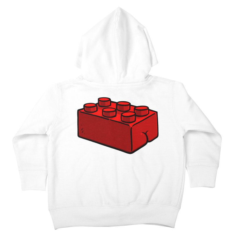 Building Block BUTT Kids Toddler Zip-Up Hoody by Brian Cook