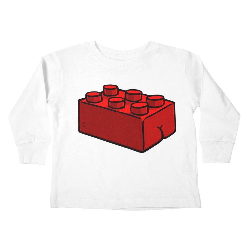 Building Block BUTT Kids Toddler Longsleeve T-Shirt by Brian Cook
