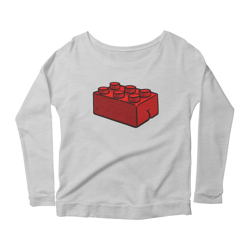 Building Block BUTT Women's Longsleeve Scoopneck  by Brian Cook