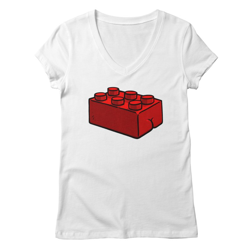 Building Block BUTT Women's V-Neck by Brian Cook