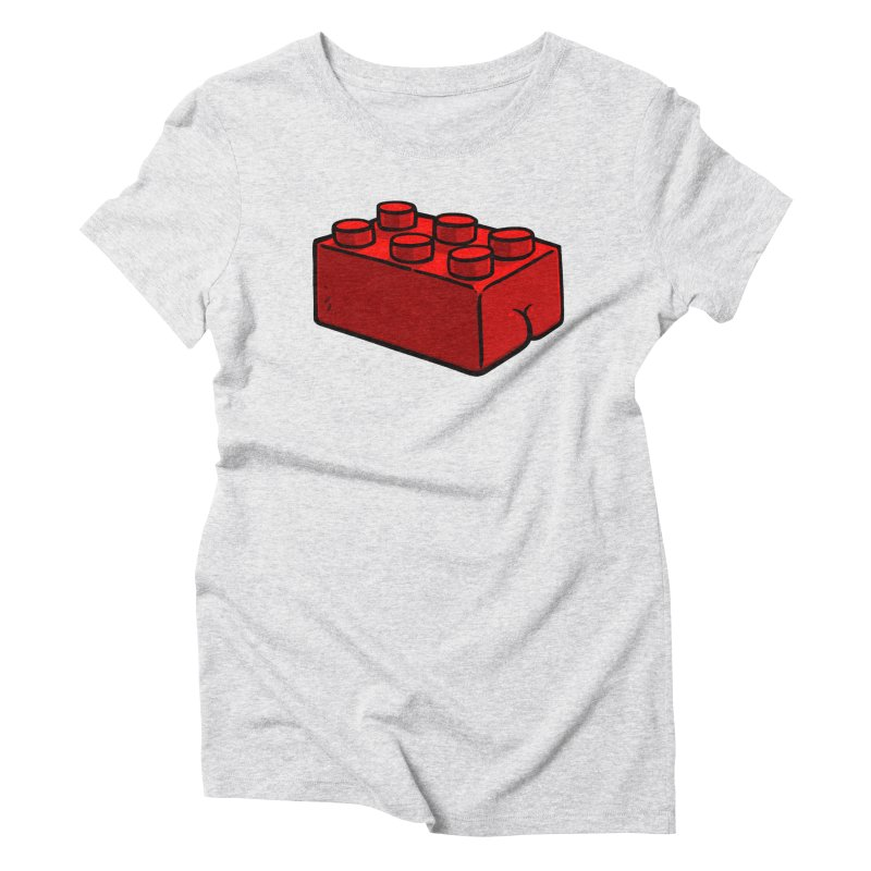 Building Block BUTT Women's Triblend T-shirt by Brian Cook