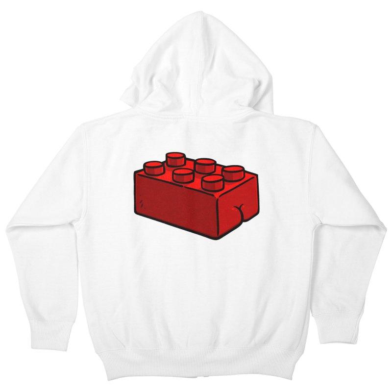 Building Block BUTT Kids Zip-Up Hoody by Brian Cook