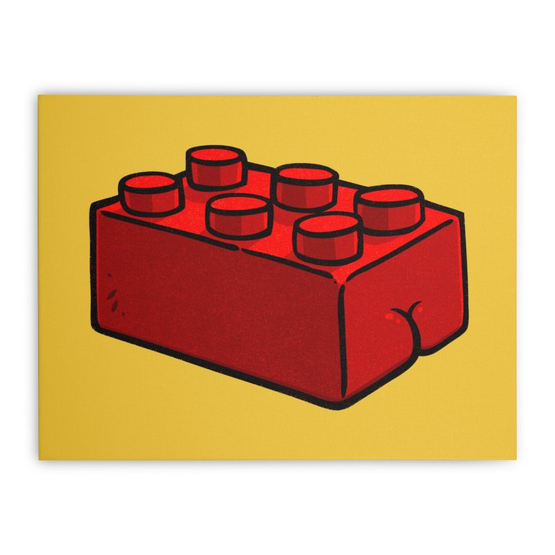 Building Block BUTT Home Stretched Canvas by Brian Cook