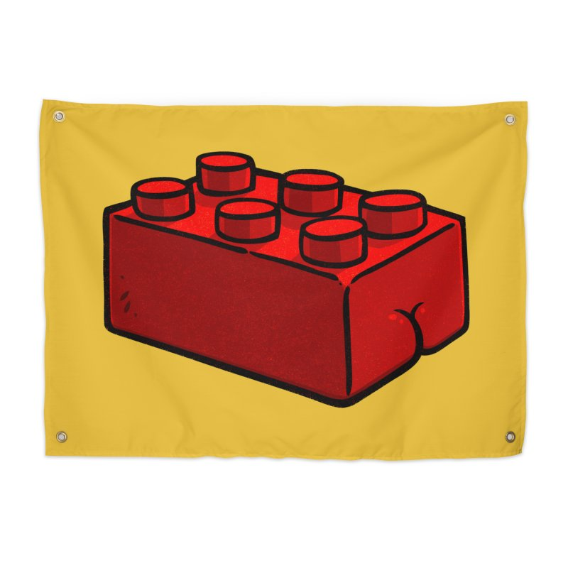 Building Block BUTT Home Tapestry by Brian Cook