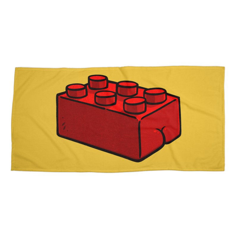Building Block BUTT Accessories Beach Towel by Brian Cook