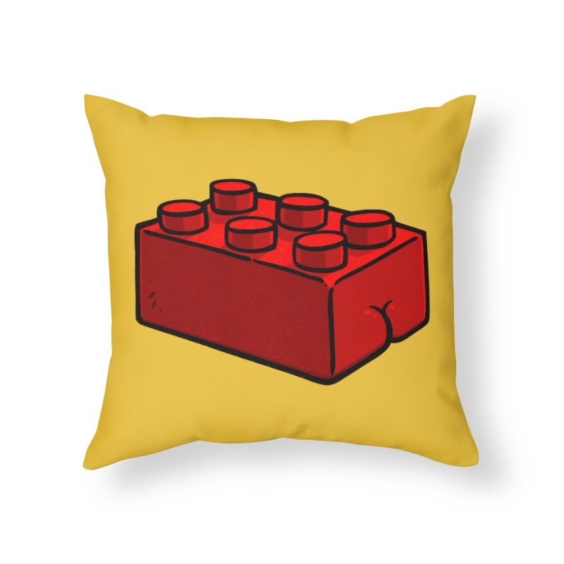 Building Block BUTT Home Throw Pillow by Brian Cook