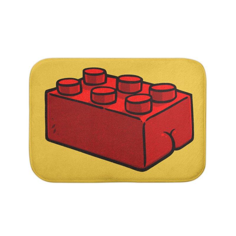 Building Block BUTT Home Bath Mat by Brian Cook