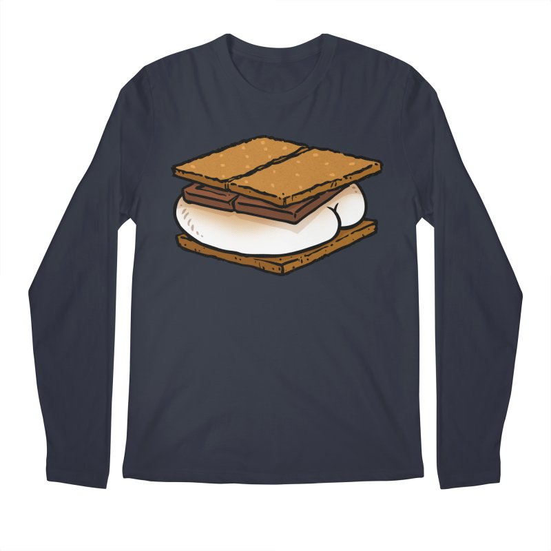 S'more BUTT Men's Longsleeve T-Shirt by Brian Cook