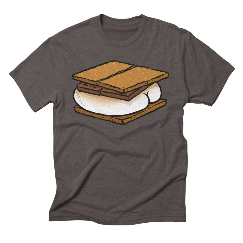 S'more BUTT Men's Triblend T-shirt by Brian Cook