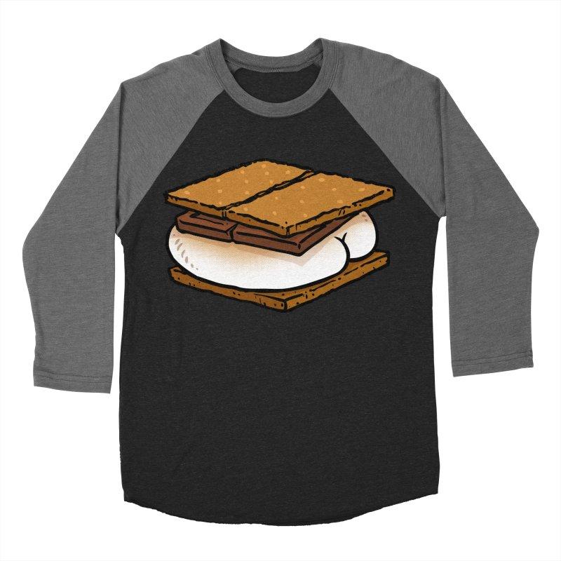 S'more BUTT Men's Baseball Triblend T-Shirt by Brian Cook