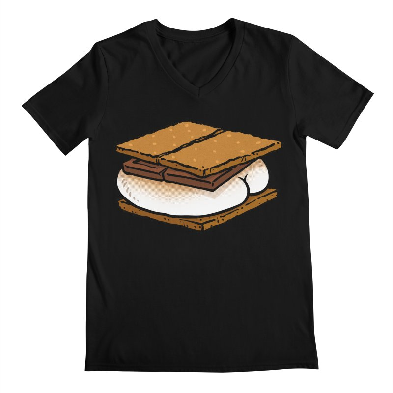 S'more BUTT Men's V-Neck by Brian Cook