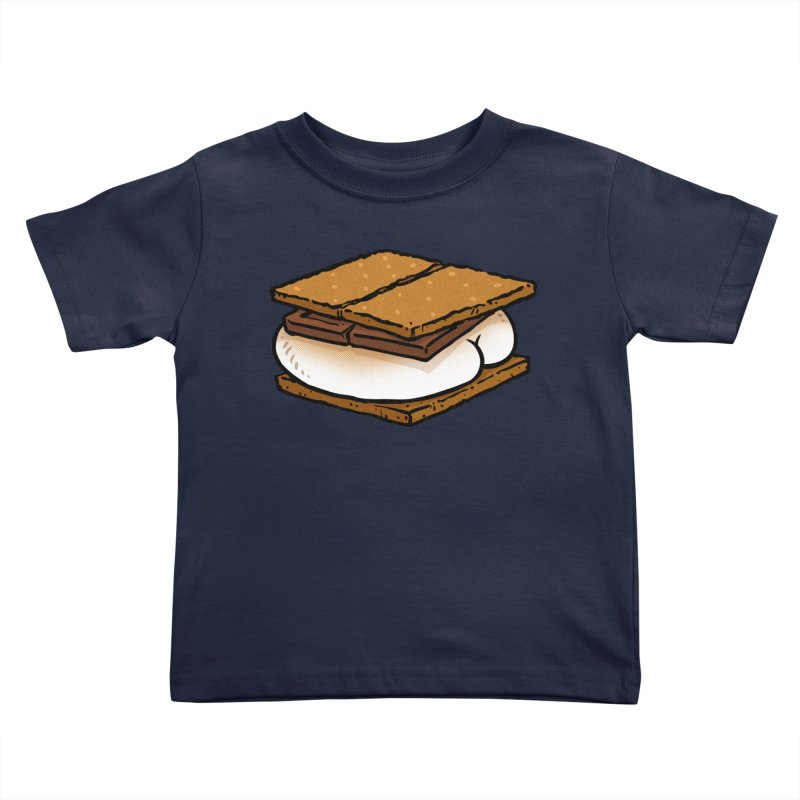 S'more BUTT Kids Toddler T-Shirt by Brian Cook