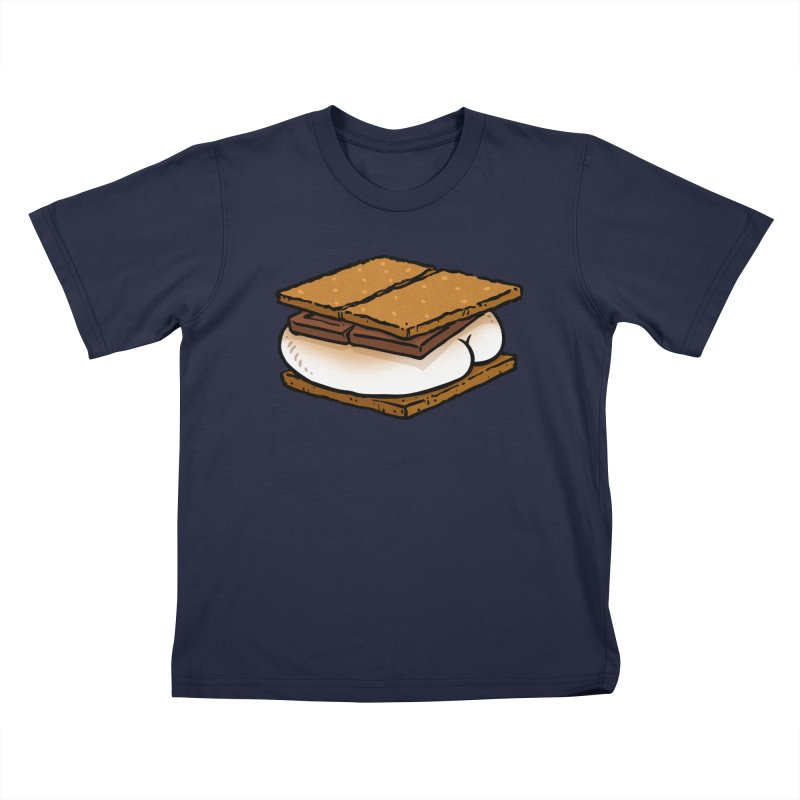 S'more BUTT Kids T-shirt by Brian Cook
