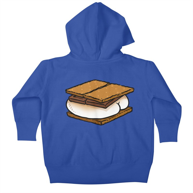 S'more BUTT Kids Baby Zip-Up Hoody by Brian Cook