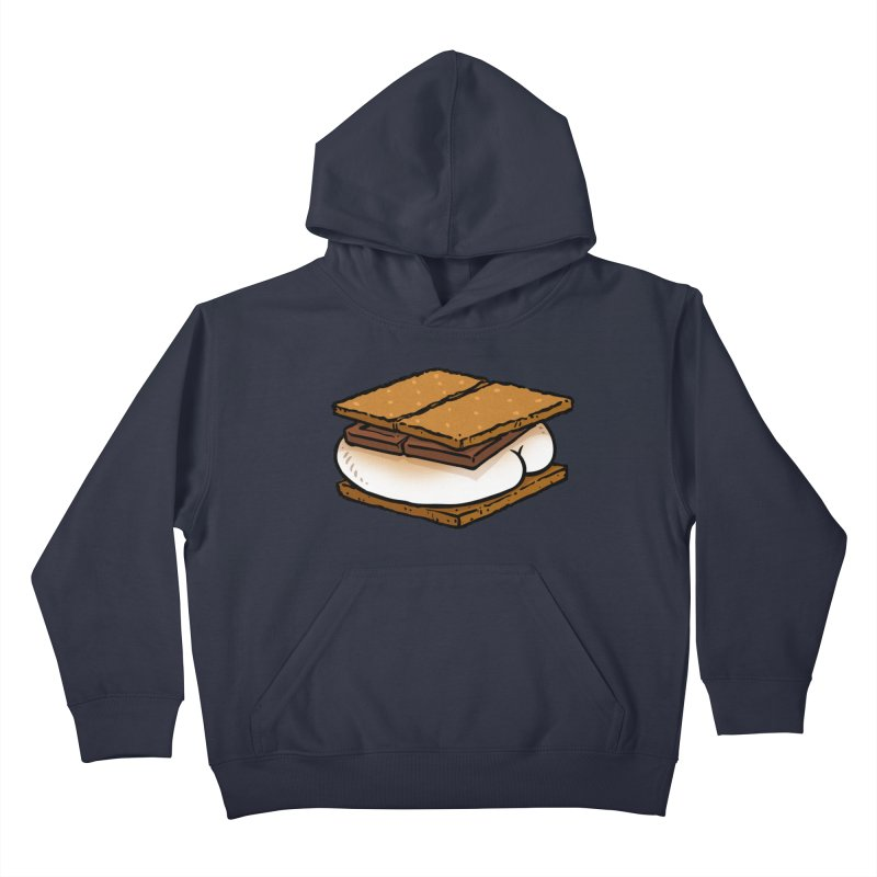 S'more BUTT Kids Pullover Hoody by Brian Cook