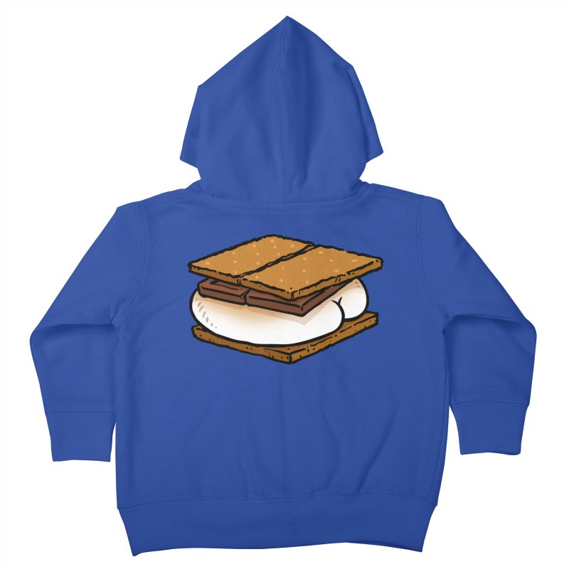 S'more BUTT Kids Toddler Zip-Up Hoody by Brian Cook