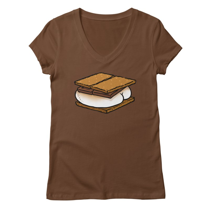 S'more BUTT Women's V-Neck by Brian Cook
