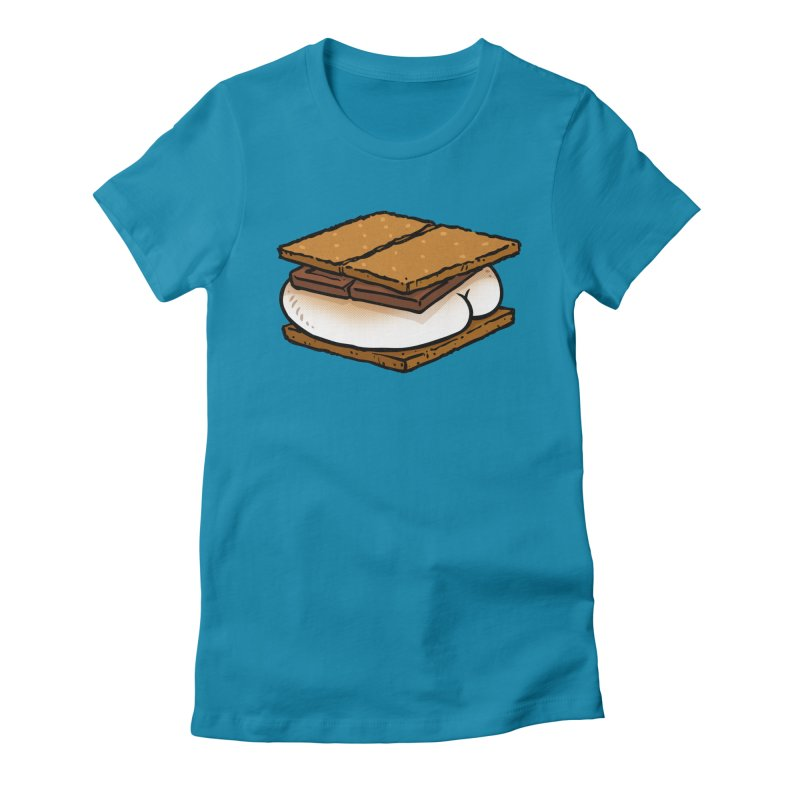 S'more BUTT Women's Fitted T-Shirt by Brian Cook