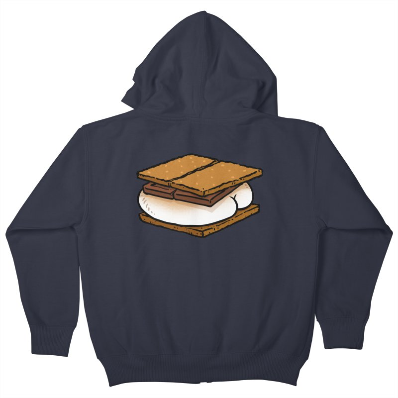 S'more BUTT Kids Zip-Up Hoody by Brian Cook