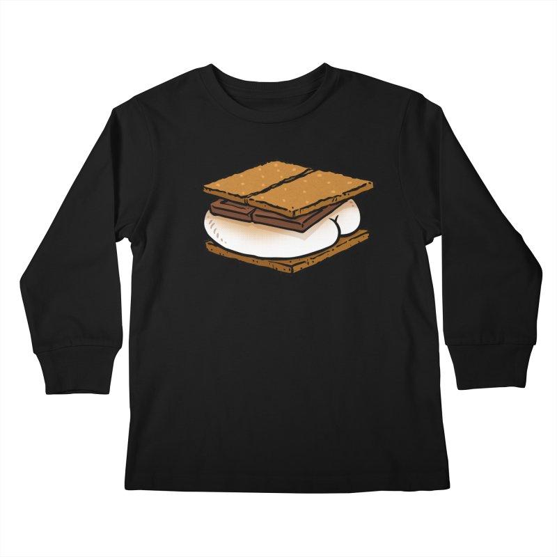 S'more BUTT Kids Longsleeve T-Shirt by Brian Cook