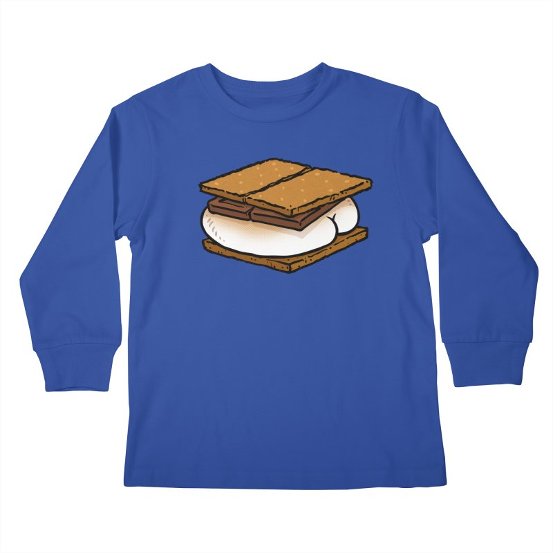 S'more BUTT Kids Longsleeve T-Shirt by Brian Cook