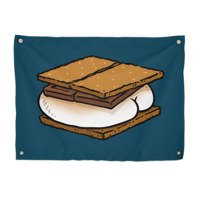 S'more BUTT Home Tapestry by Brian Cook