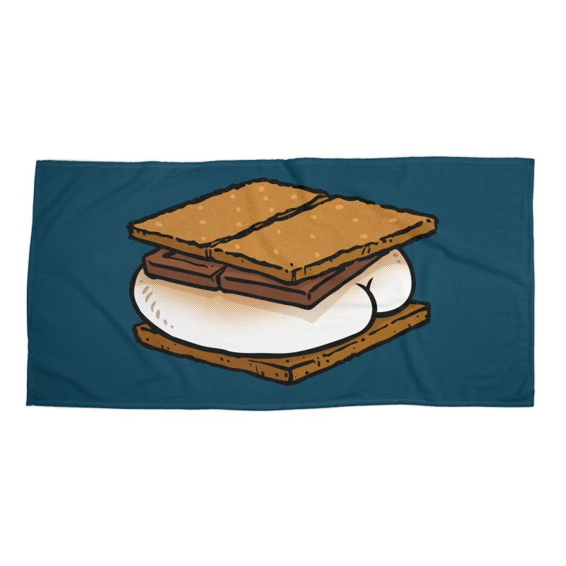 S'more BUTT Accessories Beach Towel by Brian Cook