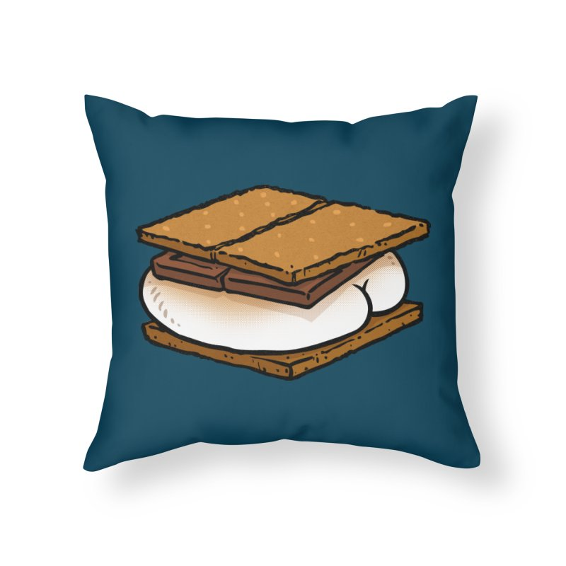 S'more BUTT Home Throw Pillow by Brian Cook