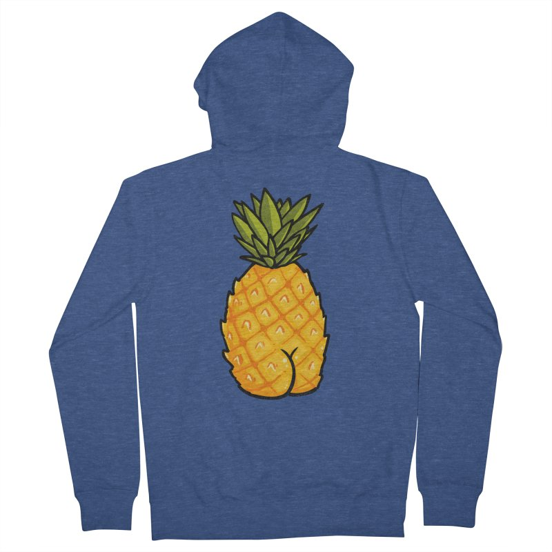 Pineapple BUTT Women's Zip-Up Hoody by Brian Cook