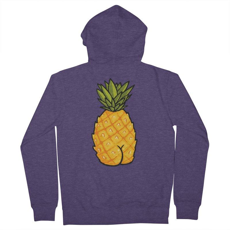 Pineapple BUTT Men's Zip-Up Hoody by Brian Cook