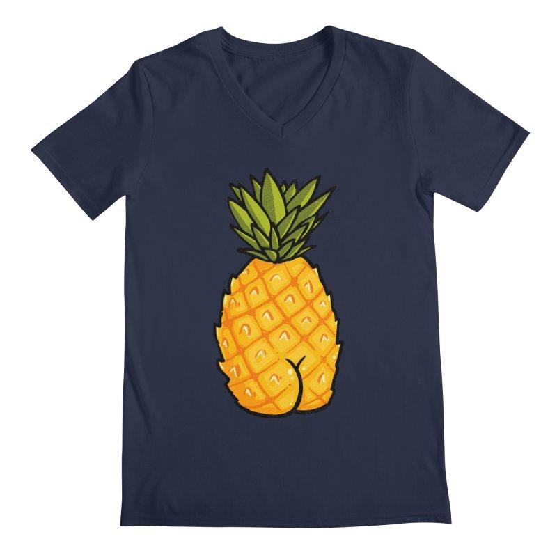 Pineapple BUTT Men's V-Neck by Brian Cook