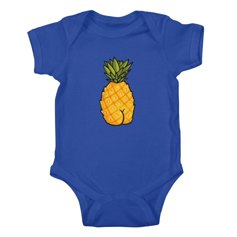 Pineapple BUTT Kids Baby Bodysuit by Brian Cook
