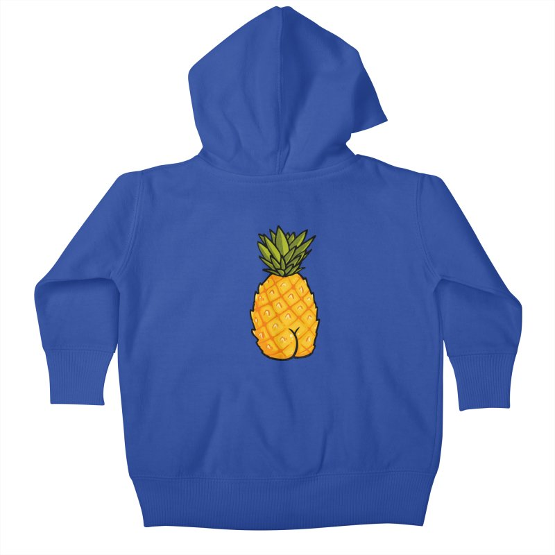 Pineapple BUTT Kids Baby Zip-Up Hoody by Brian Cook