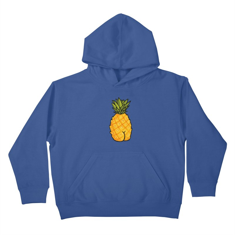Pineapple BUTT Kids Pullover Hoody by Brian Cook