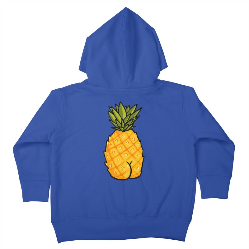 Pineapple BUTT Kids Toddler Zip-Up Hoody by Brian Cook
