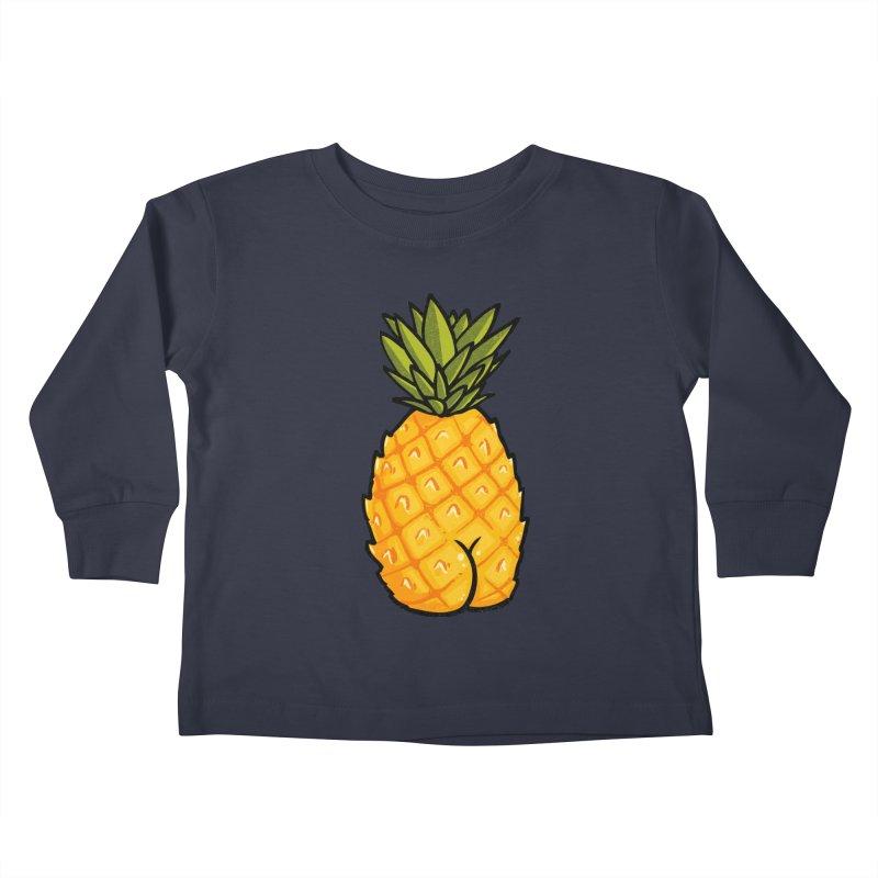 Pineapple BUTT Kids Toddler Longsleeve T-Shirt by Brian Cook