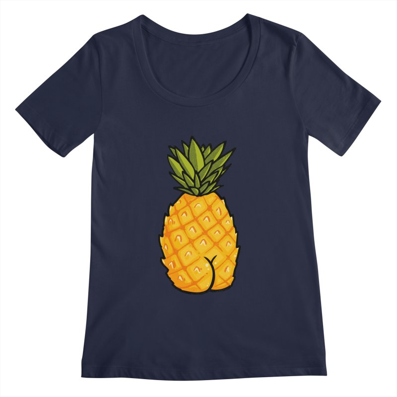Pineapple BUTT Women's Scoopneck by Brian Cook