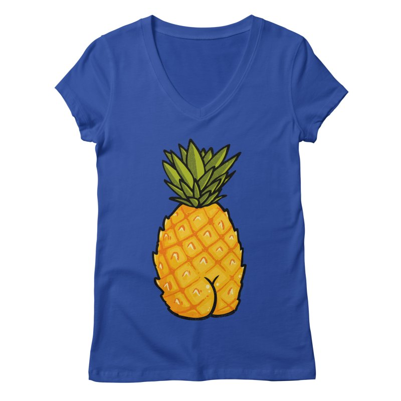 Pineapple BUTT Women's V-Neck by Brian Cook