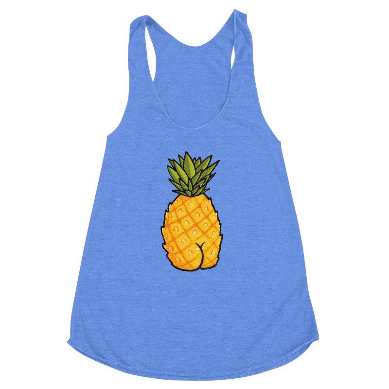 Pineapple BUTT Women's Racerback Triblend Tank by Brian Cook