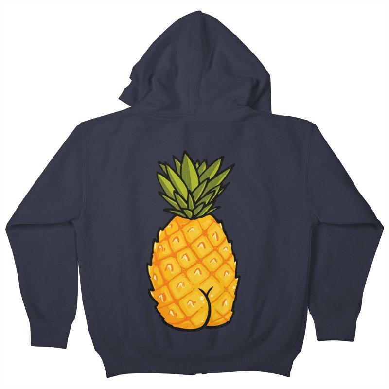 Pineapple BUTT Kids Zip-Up Hoody by Brian Cook