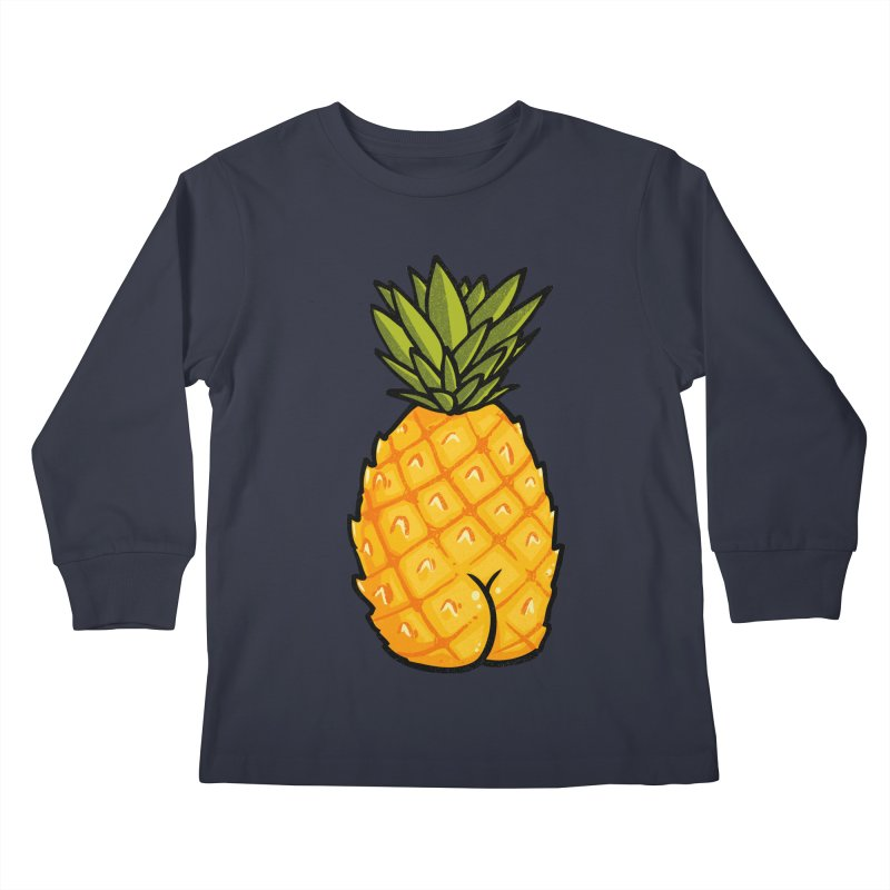 Pineapple BUTT Kids Longsleeve T-Shirt by Brian Cook