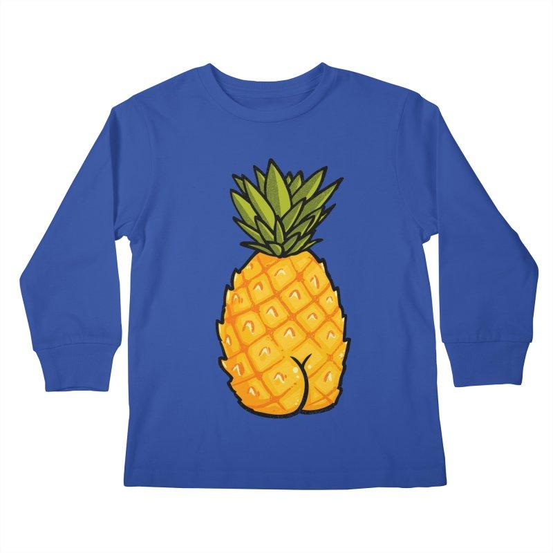 Pineapple BUTT Kids Longsleeve T-Shirt by Brian Cook