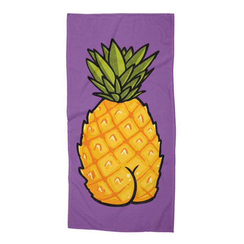 Pineapple BUTT Accessories Beach Towel by Brian Cook
