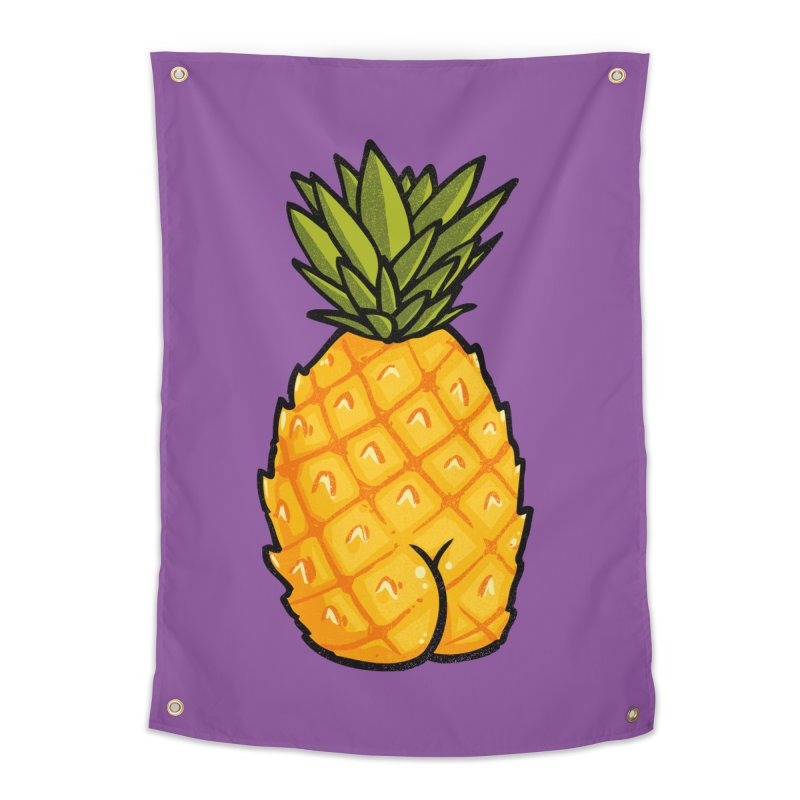 Pineapple BUTT Home Tapestry by Brian Cook