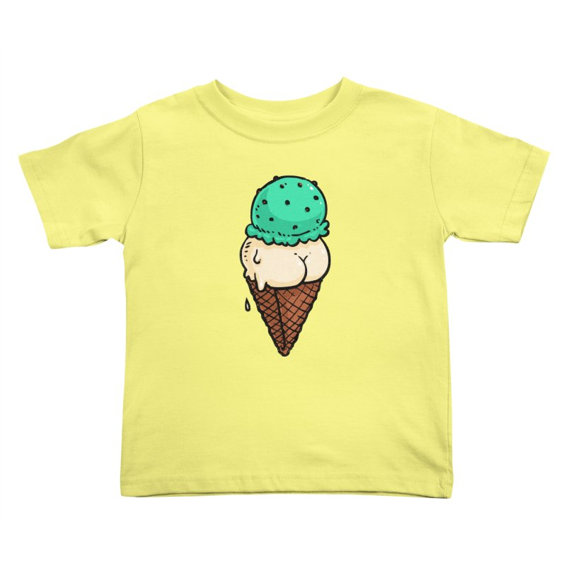 Ice Cream BUTT Kids Toddler T-Shirt by Brian Cook