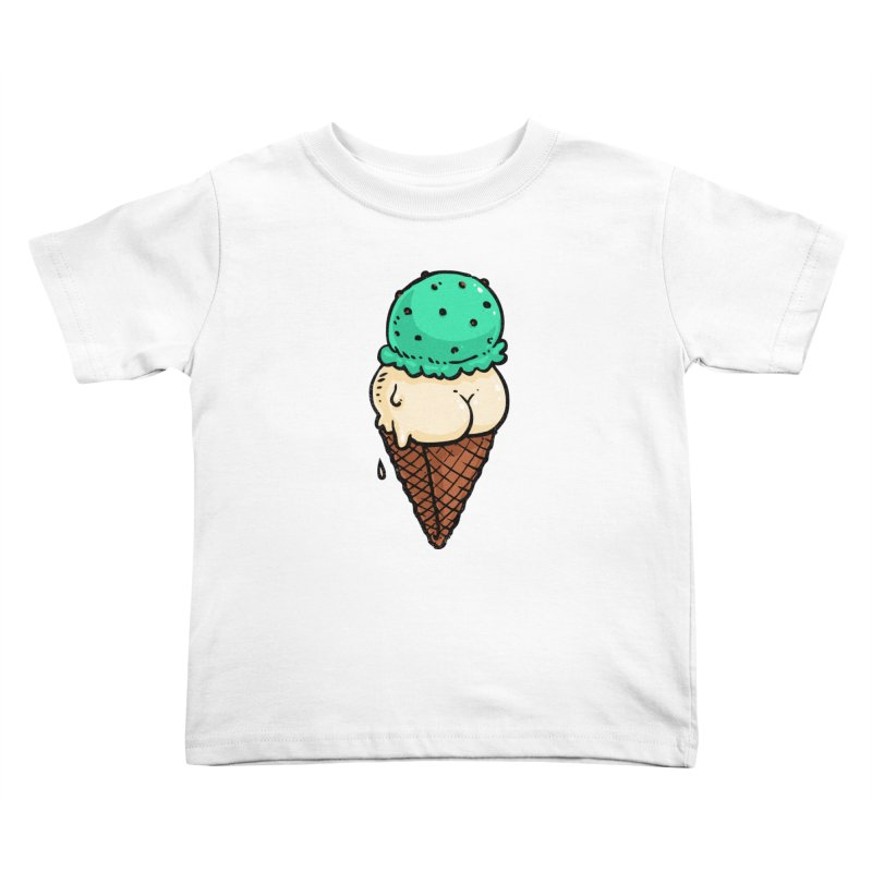 Ice Cream BUTT Kids Toddler T-Shirt by Brian Cook