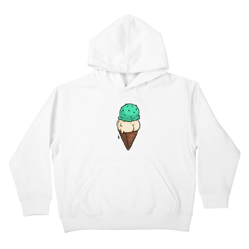 Ice Cream BUTT Kids Pullover Hoody by Brian Cook