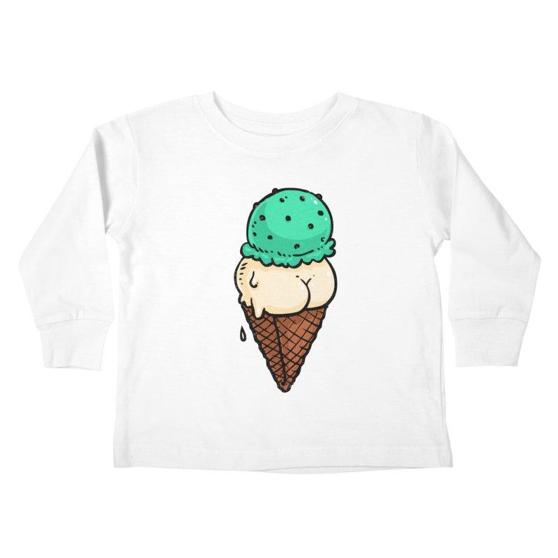 Ice Cream BUTT Kids Toddler Longsleeve T-Shirt by Brian Cook