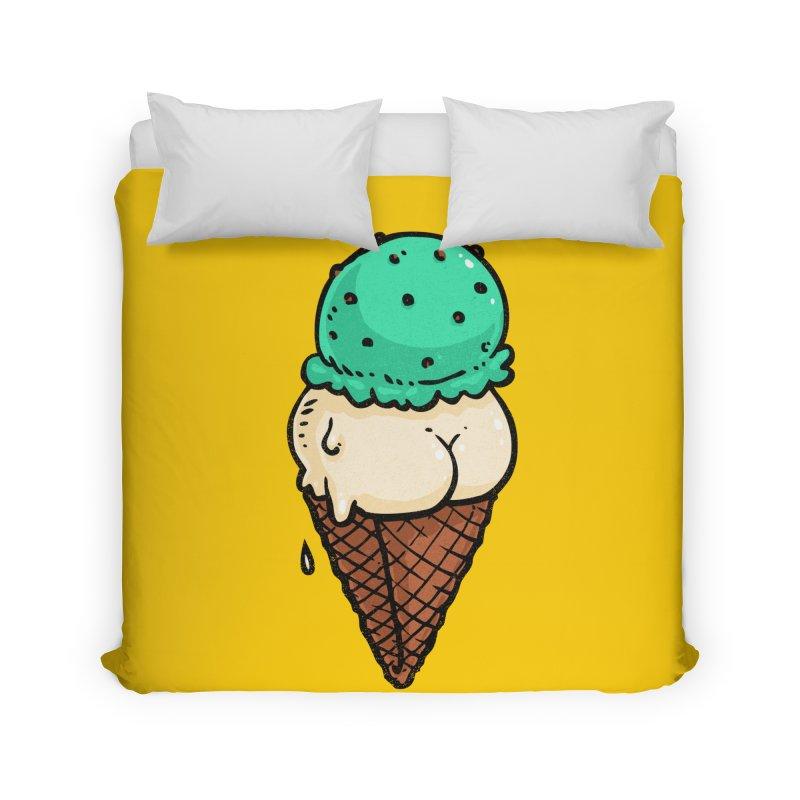 Ice Cream BUTT Home Duvet by Brian Cook