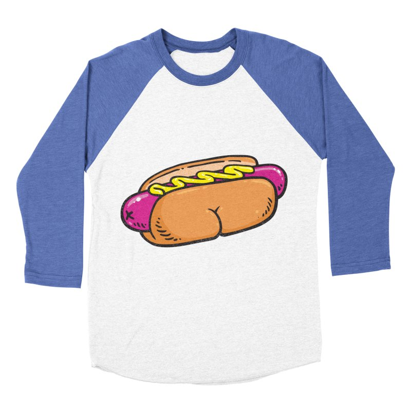 Hot Dog BUNS Women's Baseball Triblend T-Shirt by Brian Cook